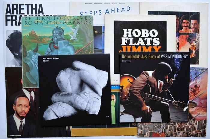 Various Artists/Bands in Jazz - Multiple artists - Weather Report, Wes Montgomery, MJQ, N.P. Molvaer, e.a. - Multiple titles - LP's - 1953/2018