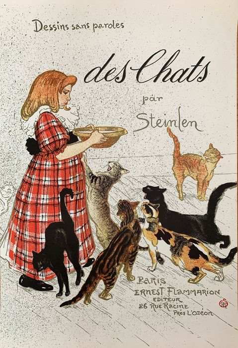 Theophile Steinlein - Des Chats (Lithograph printing)