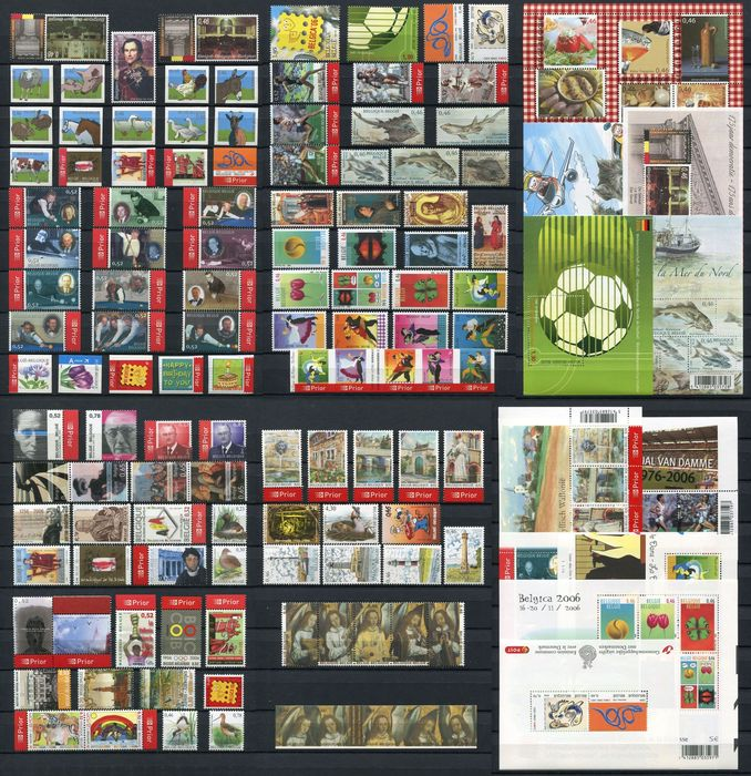 Belgium 2006 - Year collection organised on DAVO album pages