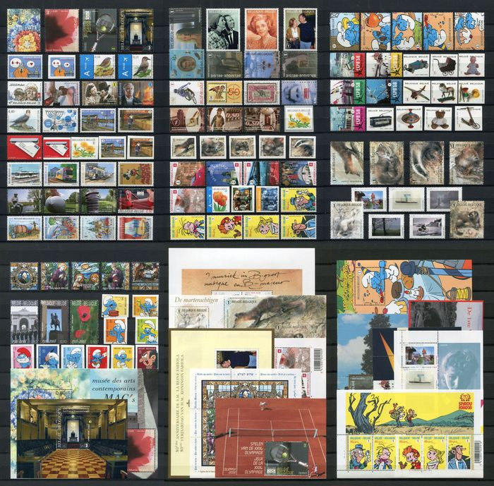 Belgium 2008 - Year collection organised on DAVO album pages