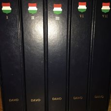Hungria 1970/2012 - Five Davo albums filled with Magyar/Magyarorszag 1977 to 2012