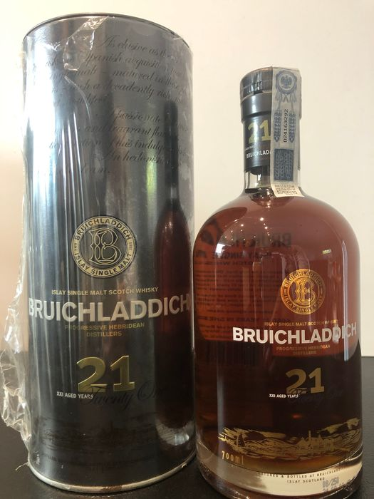 Bruichladdich 21 years old oloroso sherry cask - Original bottling - 70cl
