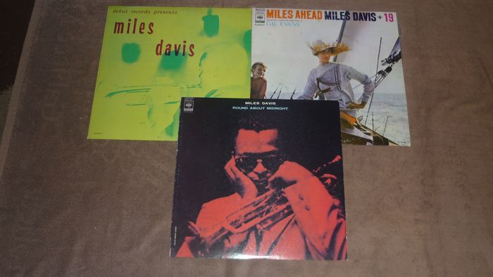 Miles Davis - 3 Albums - (Japan Pressings) - Miles Ahead - Round About Midnight - Blue Moods - Multiple titles - LP's - 1976/1977