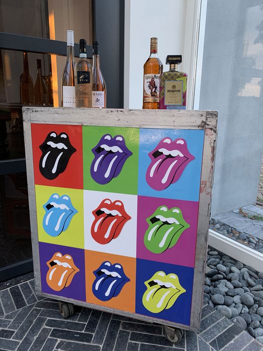 AirlineTrolleyArt - Rolling Stones edition - Trolley, Aircraft trolley, Catering trolley, Galleycart - 2020/2020