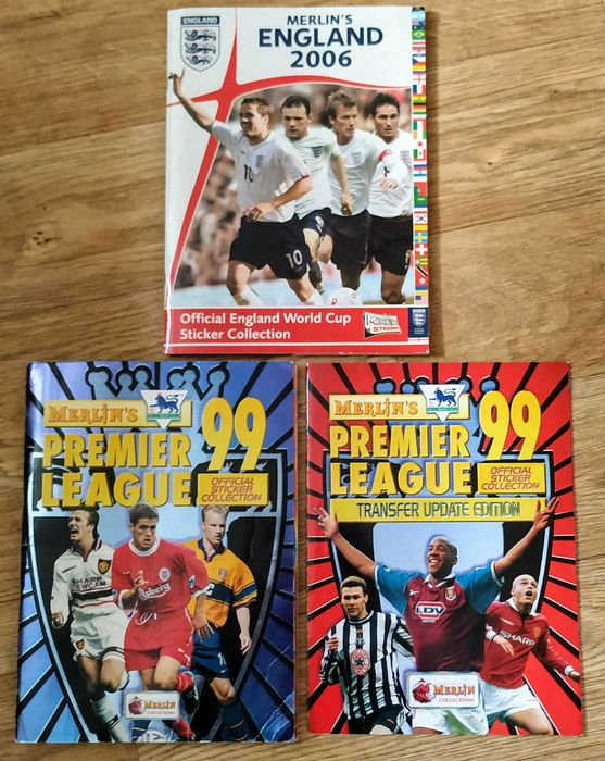 Variant Panini - Merlin - Premier League 99 + Update edition + World Cup 2006 - 3 complete albums