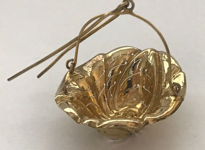 French Antique Silver Tea Strainer - Silver, Vermeil - France - Late 19th century