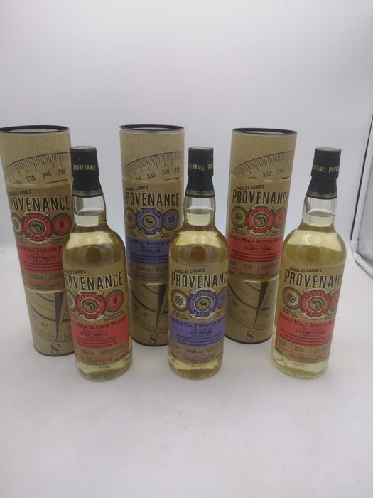 Ardmore 10 years old - Glenrothes 10 years old - Strathmill 8 years old Provenance - Douglas Laing - 70cl