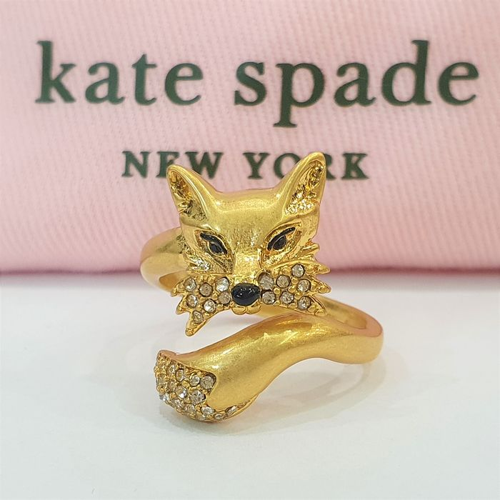 Kate Spade - 18kt matte gold plated Foxy Ring
