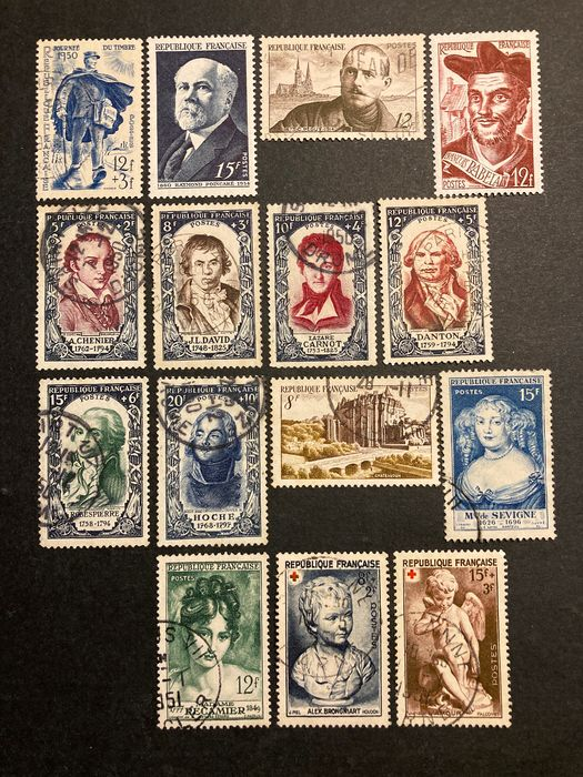 France - 1950/1954, five complete years 863 to 1007 - Yvert