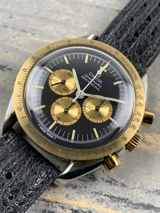 Omega - Moonwatch Limited Edition Italy Edition 18K Gold Steel - ST145.022 - Hombre - 1980-1989
