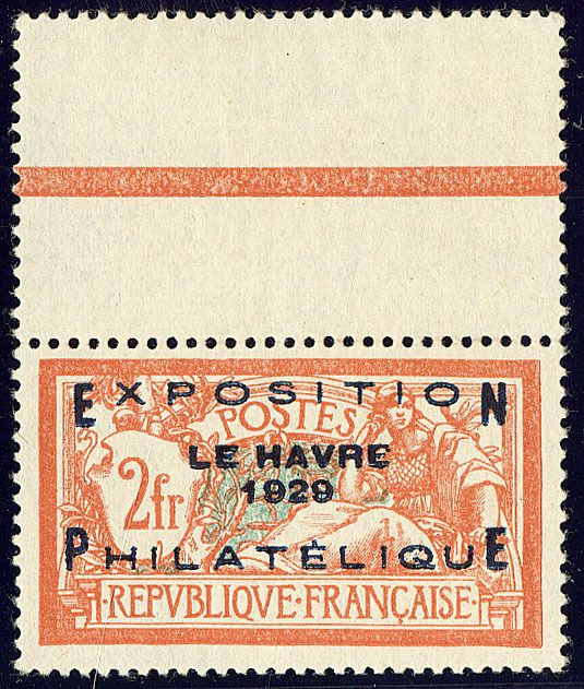 Francia 1929 - Philatelic exhibition of Le Havre - Yvert 257A