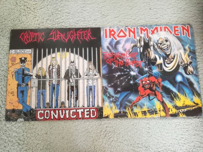 Iron Maiden/ Cryptic Slaughter. - Différents titres - LP's - 1982/1986