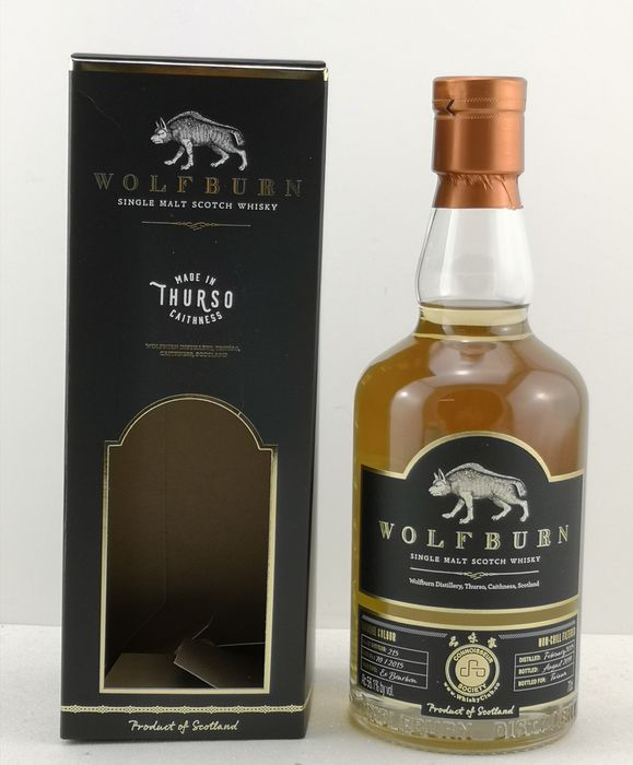 Wolfburn 2015 Single Cask Series the Wolf Girl Exclusively Bottled for WhiskyClub.co in Taiwan - Original bottling - b. 2019 - 70cl