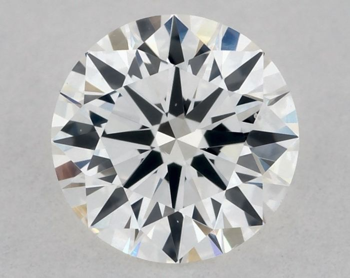 1 pcs Diamond - 0.37 ct - Round - E - VS2, EX/EX/VG - IGI