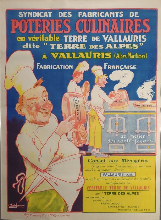 Eugene Vavasseur - poster - 'Poteries Culinaires'