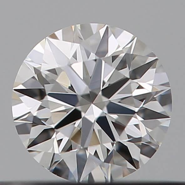 1 pcs Diamant - 0.19 ct - Brillant - H - IF (makellos)