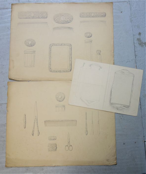 van Kempen - Design drawings for silver objects (3)