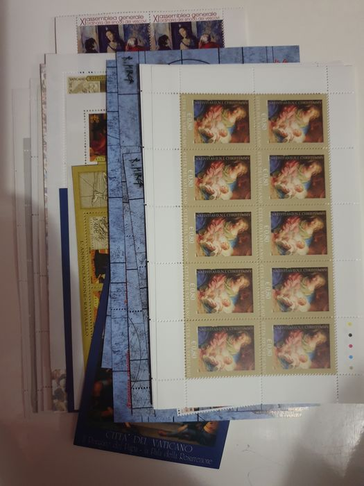 Vatican City 2005 - Selection of series and sheetlets from the period with duplicates - Yvert NN. 1374-1395