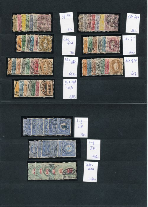Switzerland 1867/1907 - Classic selection with postage due as well