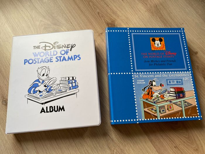 World - Disney stamps - Collection in two albums!