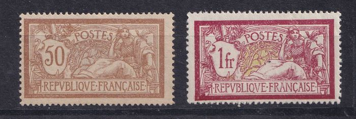 France 1900 - 50 centimes and 1 franc Merson, mint ** - Yvert 120 & 121