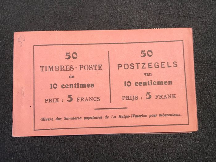 Belgium 1914 - Stamp booklet 'La Royale Belge' no. 1011 - Complete and in new condition - OBP / COB A15a