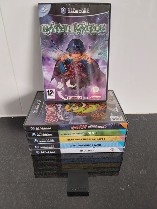 Nintendo - Lot with 5 (CIB) Topgames for Gamecube: Baten Kaitos, Sooby-Doo Unmasked, Pikmin, Rayman 3, Sonic - Video games