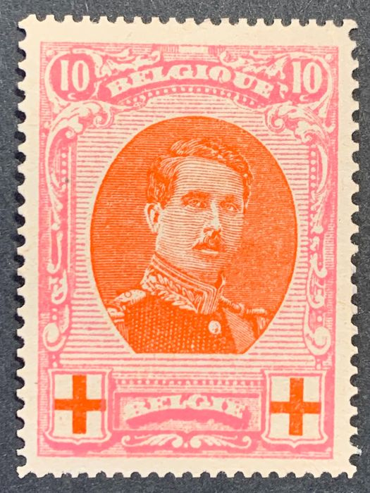 Belgien 1915 - Issue Albert I Red Cross 10c, perforation 14 x 12 (OBP 133A) - OBP / COB 133A