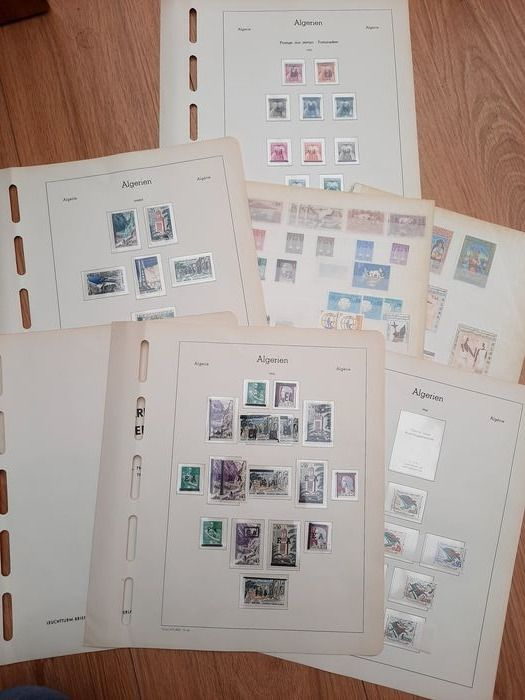 Algeria 1962/1966 - Algeria (France) 1962/66 collection (overprints and postage due stamps with inverted overprints), - Michel