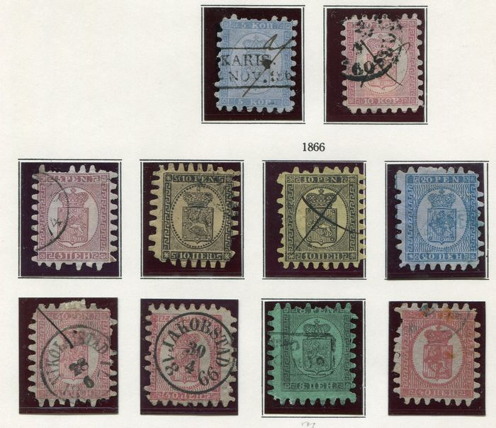 Finland 1860/1900 - Small collection classics