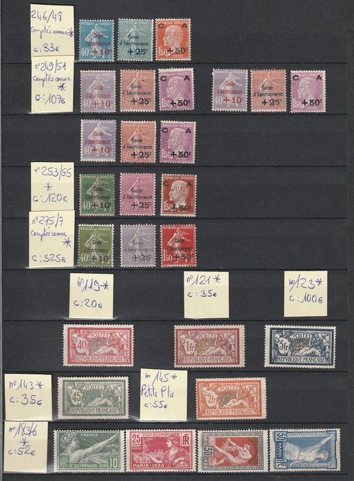 France 1900/1970 - Lot with semi-modern stamps and TA.A.F.