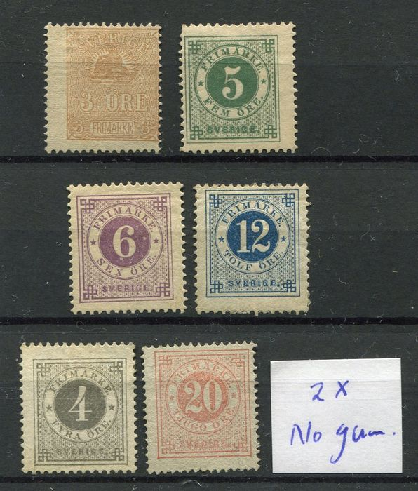 Sweden 1850/1940 - Small collection starting with classics