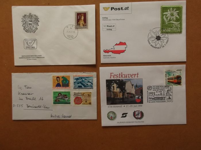 Austria - 654 postal items including 72 with Christkindl cancellation