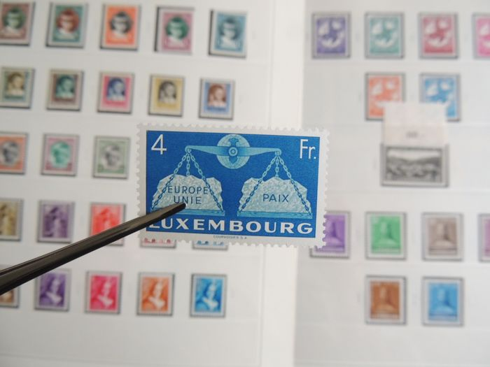Luxembourg 1912/1957 - Collection in a Safe binder