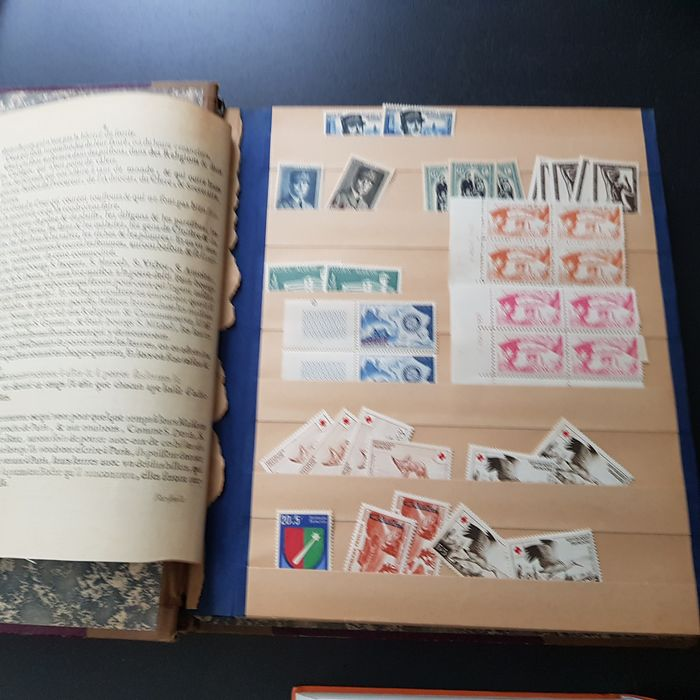 France 1940/1955 - French colonies in an old stock book, MNH compilation with duplicates