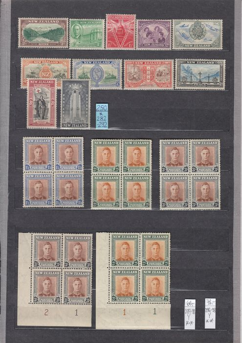 British Commonwealth 1929/1953 - New Zealand - Michel Mi 177/345, Mi 36/51A