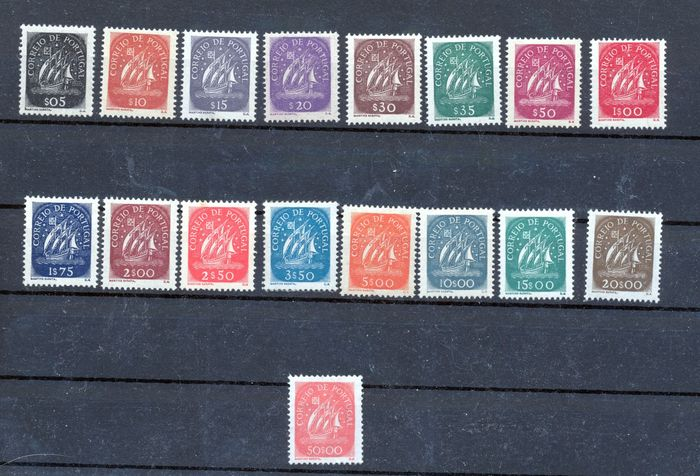 Portugal 1943 - Caravels Complete New Series without Hinge - Mundifil 617/633