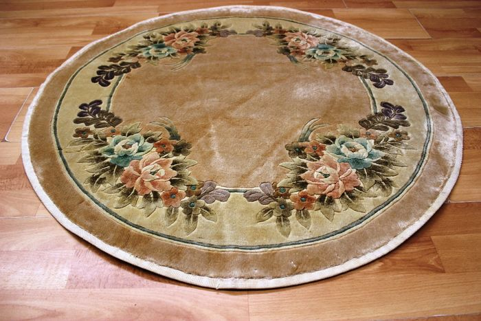 Runder China Seide Peking - Tapis - 95 cm - 95 cm