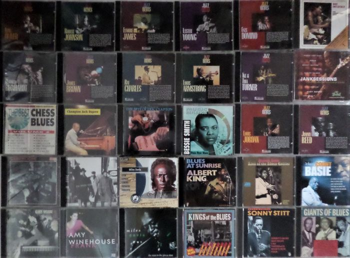 Various Artists/Bands in Blues, Various Artists/Bands in Jazz - Diverse Künstler - Lot of 30 great CD's - Diverse Titel - CD's - 1973/1987