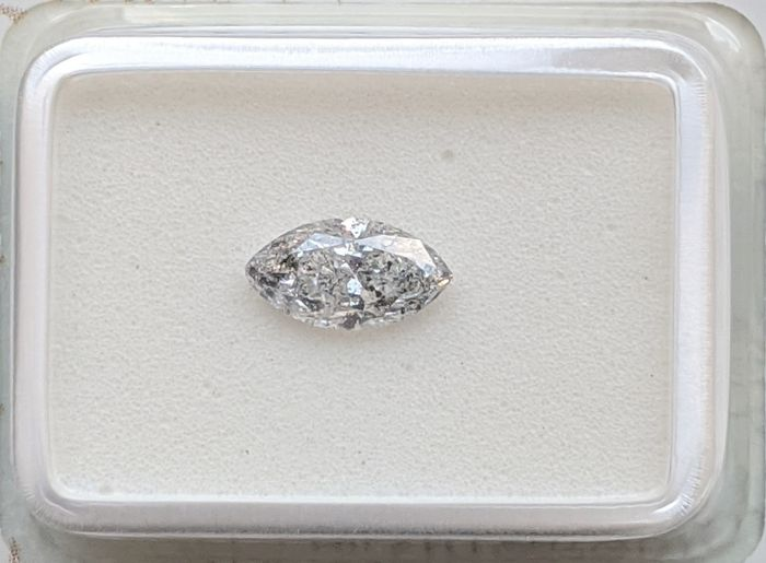 Diamante - 0.51 ct - Marquise - F - SI3, No Reserve Price