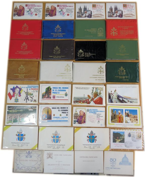 Vatican City - The travels of the Pope - six hundred pieces including envelopes, postcards, souvenir sheets - IN 28