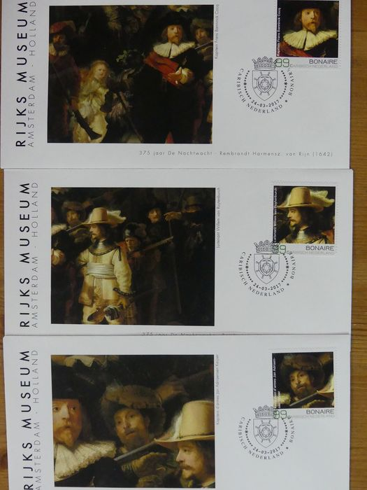 """Painting """"Rembrandt 400 years"""" - Collection of special covers"""