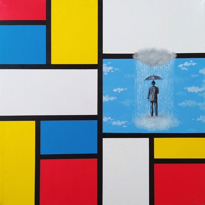 Dario Assisi - Magritte in the Mondrian world - Passing clouds