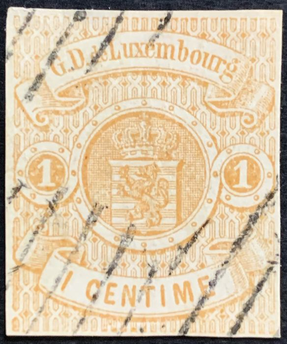 Luxembourg 1859 - National coat of arms 1 centime - Michel 3