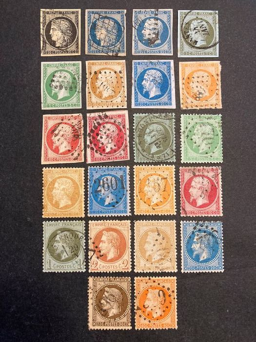 France - 1849/1868, Ceres and Napoleon III, including between 3 and 31. - Yvert