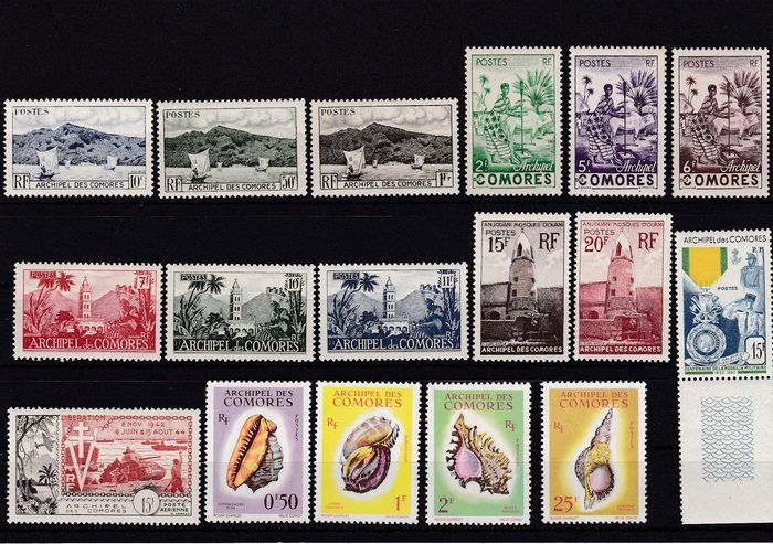 Comoros 1950/2009 - mint never hinged collection