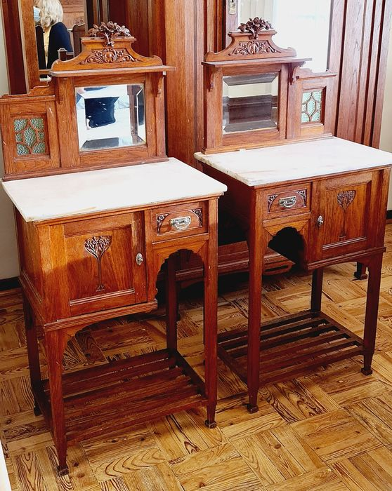 Set Of Two Beautiful Bedside Tables Catawiki