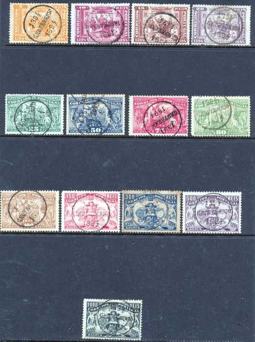 Portugal 1894 - 5th Centenary of the Birth of Infante D. Henrique Complete Series - Mundifil 98/110