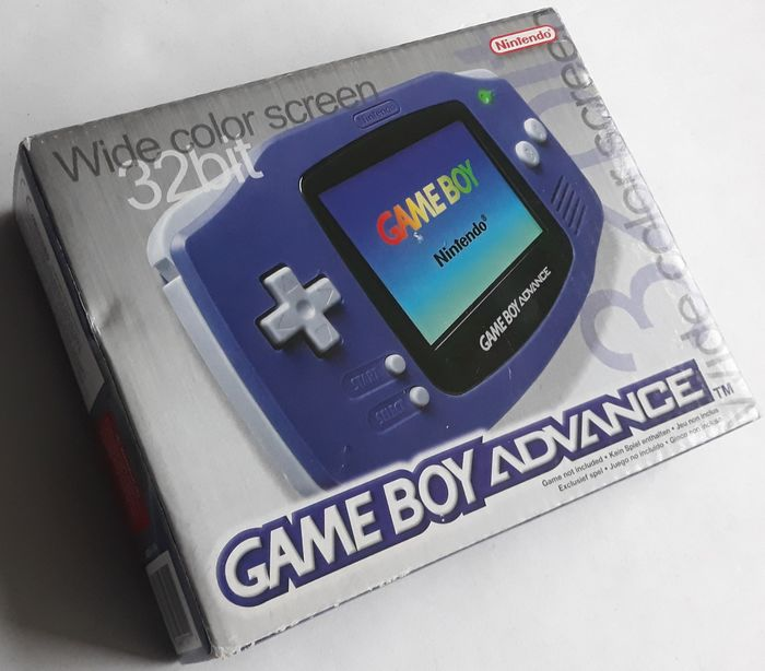 Nintendo Game Boy Advance Violet handheld console - AGB-001 - In original box