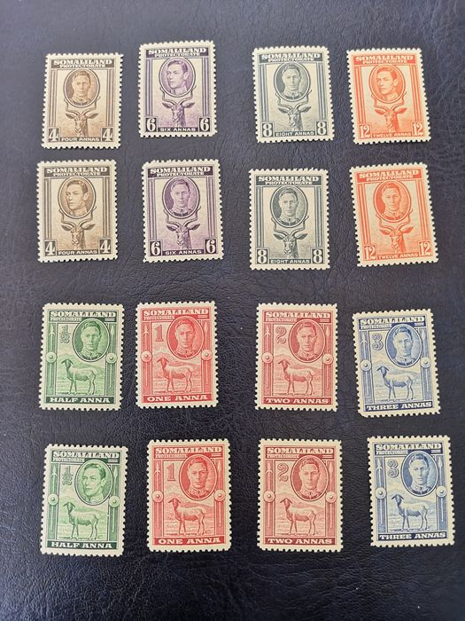 British Commonwealth - Somaliland protectorate and Bechuanaland, Tristan da Cunha. 1938/1961Scott 2016: €550 - Scott